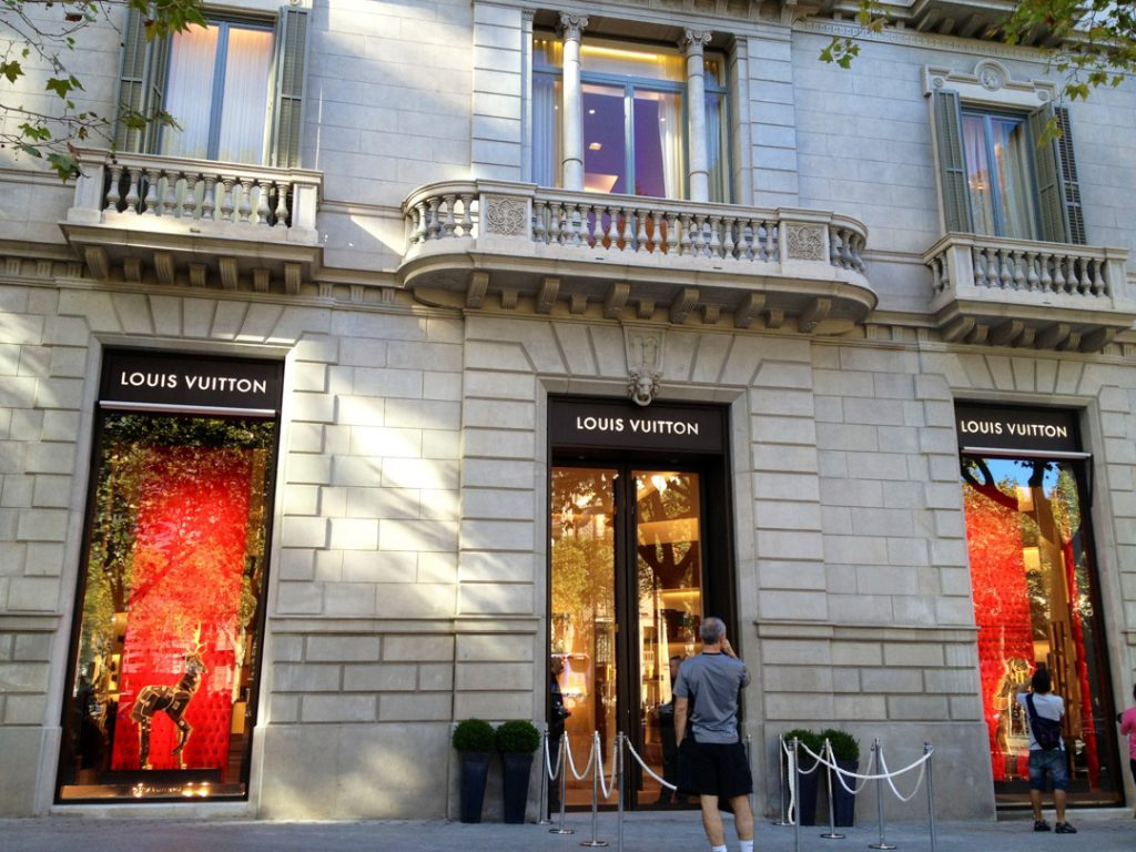 Luxury shops Barcelona